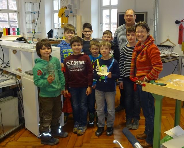 Das Schülerteam aus Oberscheckenbach