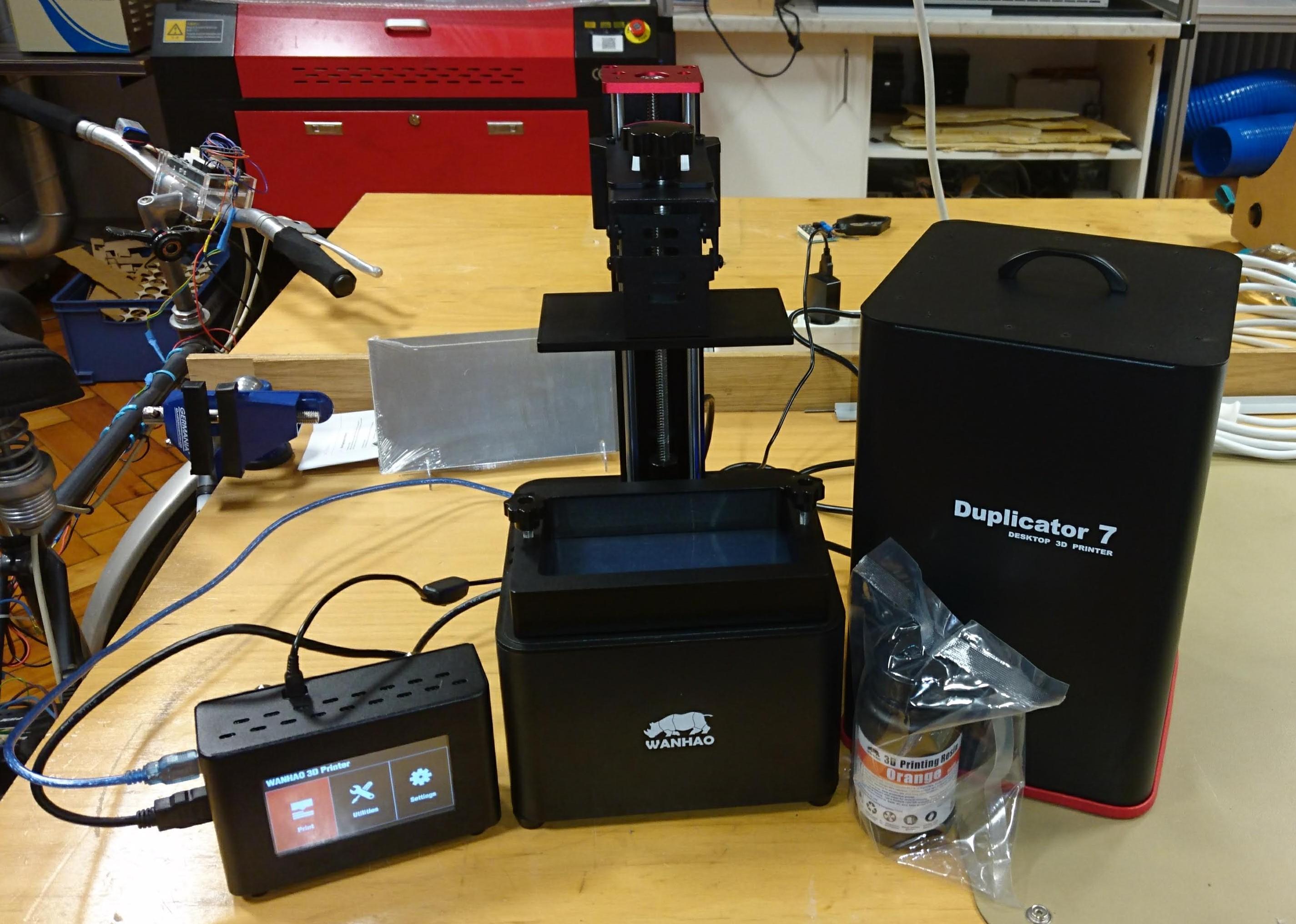 Wanhao Duplicator 7 mit Equipment