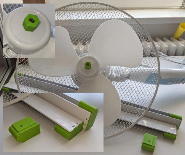 Reparierter Ventilator